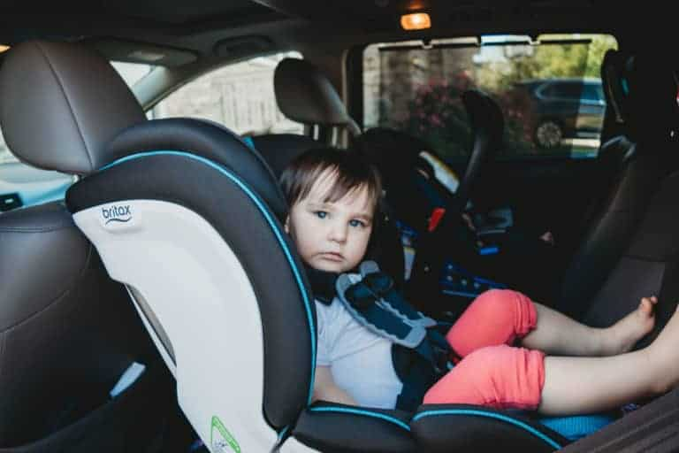 Toddler in car seat