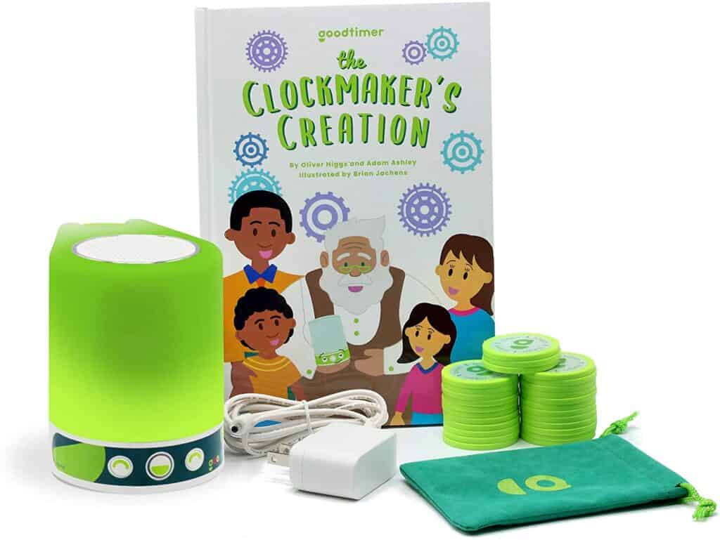Goodtimer and The Clockmaker's Creation - complete kit to help improve your child's behavior at home