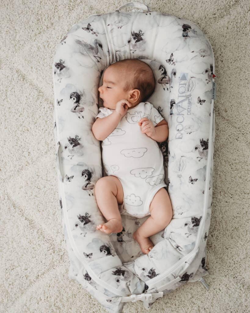 Baby lying in Dockatot
