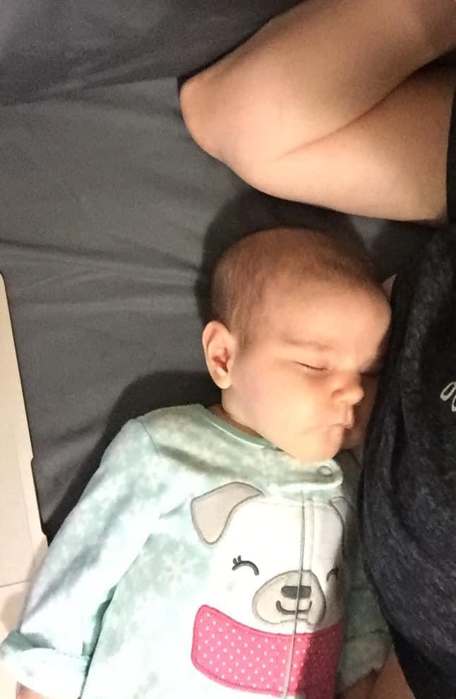 baby cosleeping after breastfeeding
