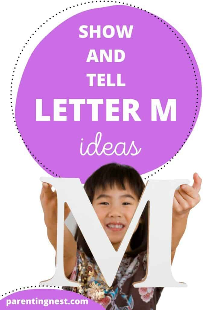 Show and Tell Letter M Ideas for preschool