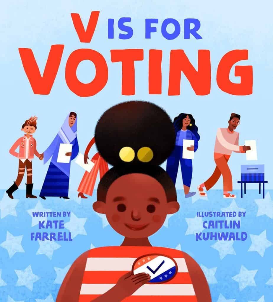 v is for voting government book for kids